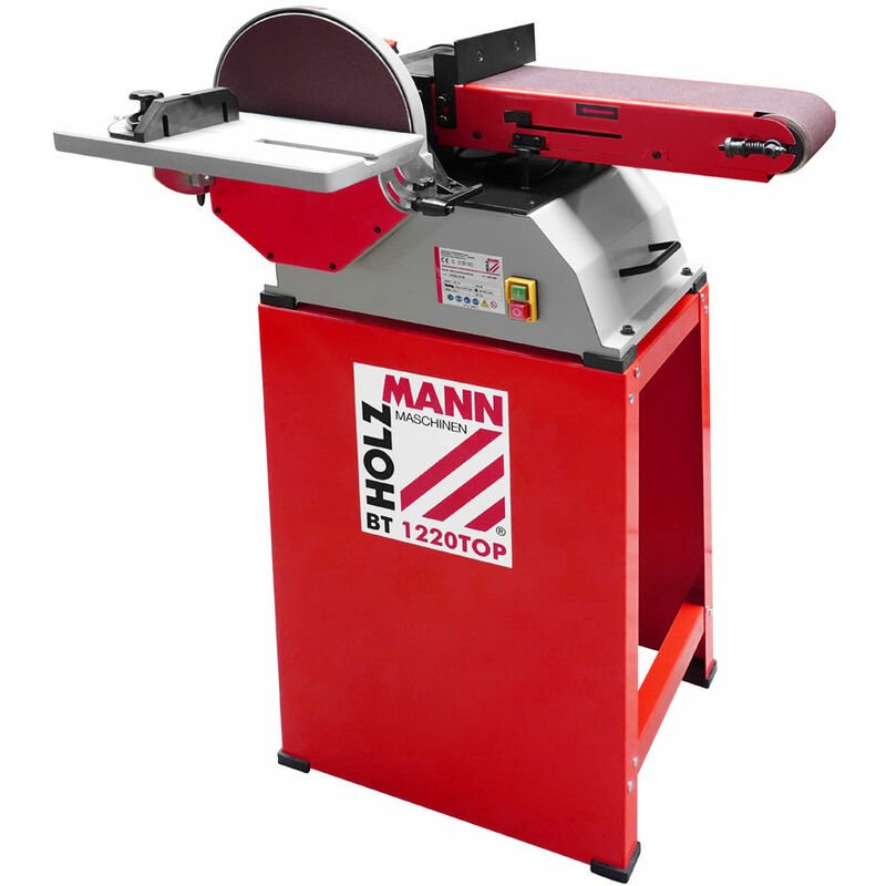 Image of Holzmann BT1220TOP Floor Standing Belt & Disc Sander | 10' Disc - 750w - 230v
