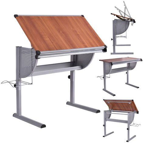 Pleasant Tiltable Drawing Study Desk Board Drafting Crafting Table Computer Art Artist Download Free Architecture Designs Lukepmadebymaigaardcom
