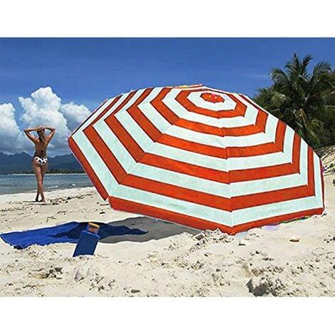 Tilting Umbrella Parasol Sun Shade Protection UPF40 - Colour May Vary