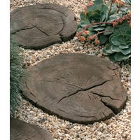 Timberstone Log Stepping Stone Driftwood