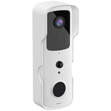 Timbre de video inalambrico, intercomunicador visual en tiempo real 720P con pilas, timbre de video Wi-Fi, deteccion de PIR