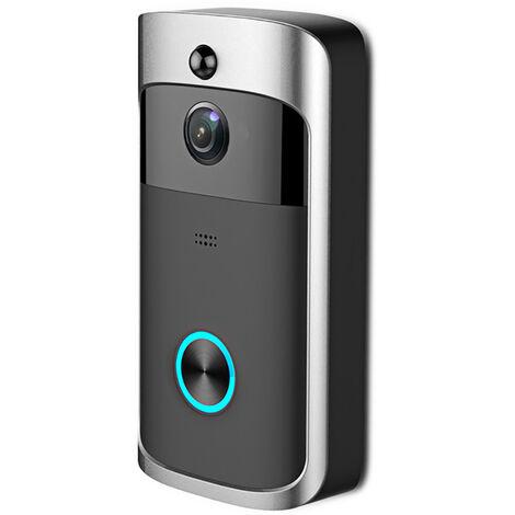 Timbre de video inalambrico, intercomunicador visual en tiempo real 720P, timbre de video Wi-Fi, deteccion de PIR