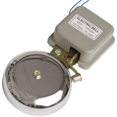 Timbre eléctrico campana con martillo 10cm diámetro 230V