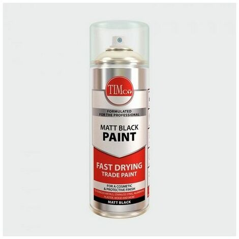 TIMco 237128 Finishing Paint - Matt Black 380ml
