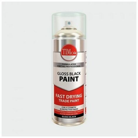 TIMco 237190 Finishing Paint - Gloss Black 380ml
