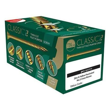 "main image of ""TIMco 4.0 x 60mm Classic C2 Wood Screw Box Qty 200"""