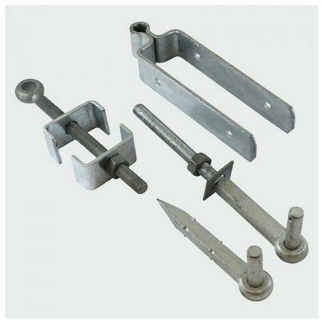 TIMco AFH450G Adj Gate Hinge Set Galv 450mm Pack of 2