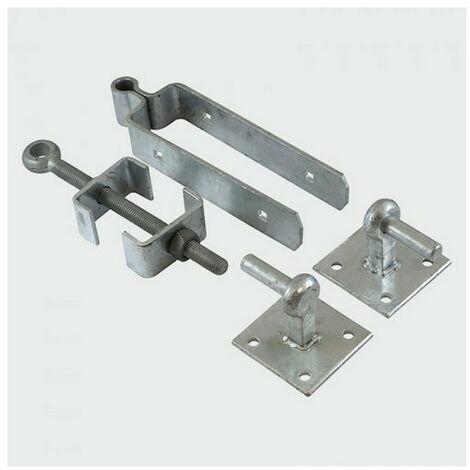 TIMco AFHP300G Adj Hinge Set Hook Plates Galv 300mm Pack of 2