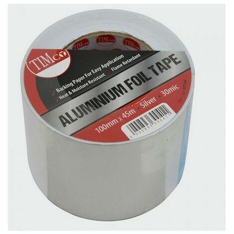 TIMco AFT100 Aluminium Foil Tape 45m x 100mm