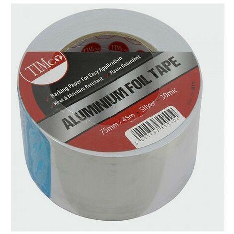 TIMco AFT75 Aluminium Foil Tape 45m x 75mm