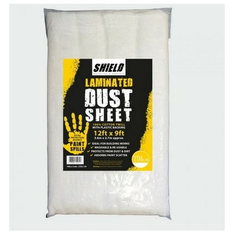 """main image of """"TIMco CDSL129 Shield Dust Sheet Laminated 12ft x 9ft"""""""