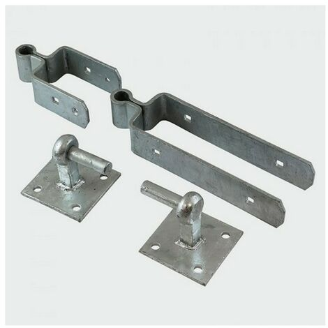 TIMco DSFH450G Double Strap Hinge Set Galv 450mm Pack of 2