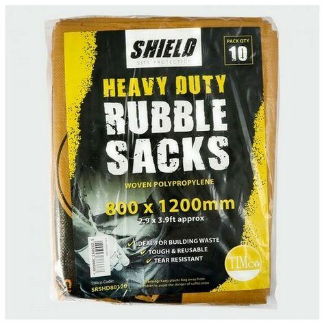 TIMco SRSHD80120 Shield Heavy Duty Rubble Sacks Pack of 10