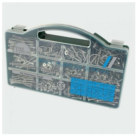 TIMco STSTTRAY Classic A2 SS Screw Mixed Tray