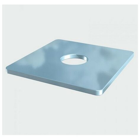 TIMco WS8405Z Square Plate Washer BZP M8 x 40 x 40 x 5mm Box of 100