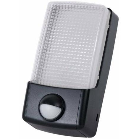 Timeguard Black 6.5W LED Energy Saver PIR Bulkhead Light - Cool White - LED88PIR