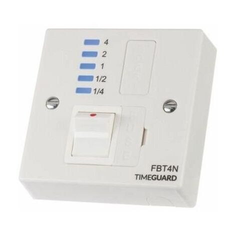 Timeguard Electronic 4 Hour Boost Timer and Fused Spur - FBT4N