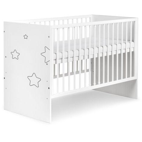 """main image of """"TINO Lit bébé à barreaux avec motifs étoiles 120X60"""""""