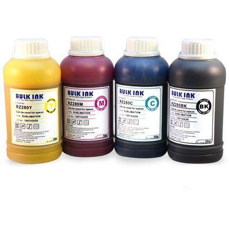 Tinta sublimación compatible epson 4 colores 250ml