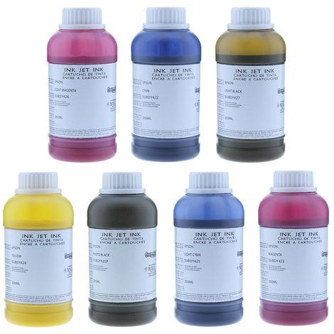 Tinta sublimación compatible epson 7 colores extra 250ml