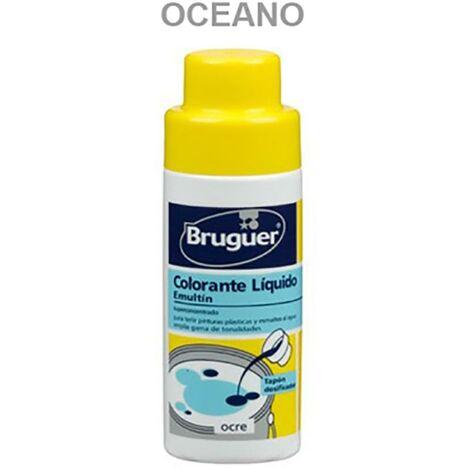 Tinte Concentrado Al Agua 50 Ml Azul Oceano Emultin Bruguer