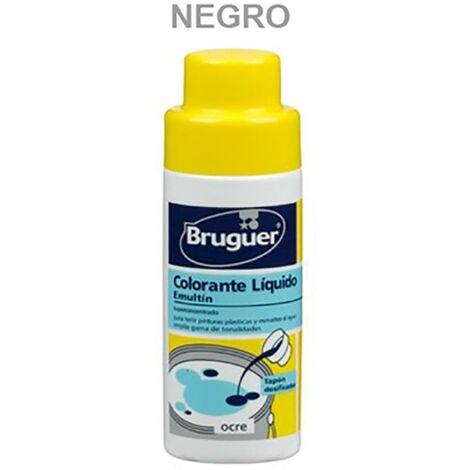 Tinte Concentrado Al Agua 50 Ml Negro Emultin Bruguer
