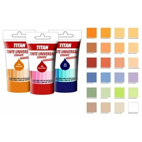 Tinte Concentrado Universal 100 Ml Ocre 404 Titan