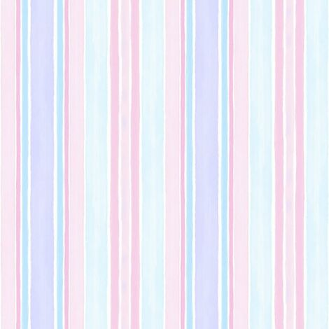Tiny Tots Striped Wallpaper Pastel Pink Blue Watercolour Stripes Textured Nursery Baby
