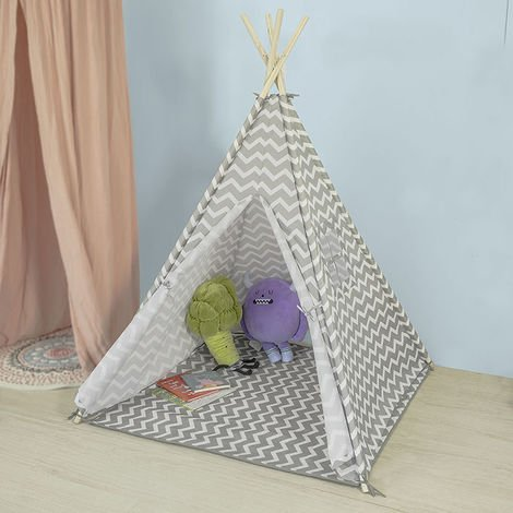 Tipi Tente Pour Enfant avec Tapis De Sol Indian Teepee Tente de jeu pour enfants OSS03 SoBuy®