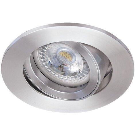 TIPO - Enc. GU10, rond, alu, a/lpe LED 4,5W 2700K 390lm, dimmable par inter