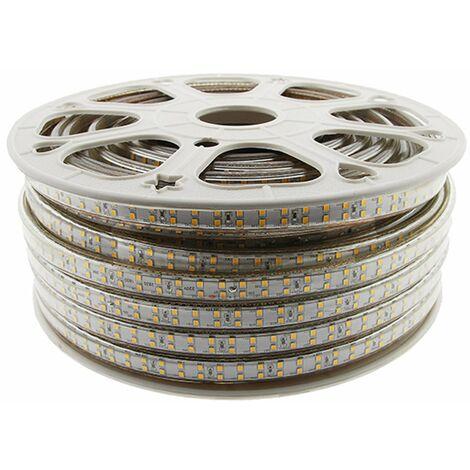 Tira de LED 220VAC SMD2835 180LED/m 14W/m 50mts azul