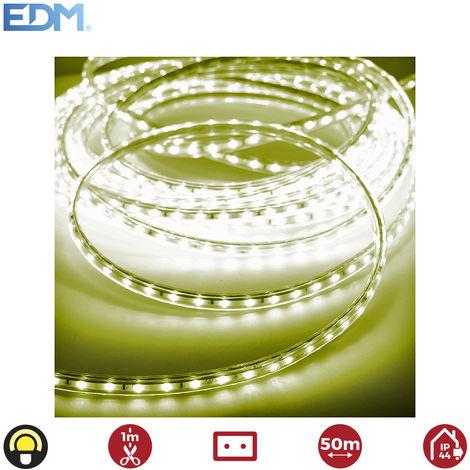 Tira de led 60 leds/mts 4,2w/mts amarillo edm ip44 220-240v euro/mts