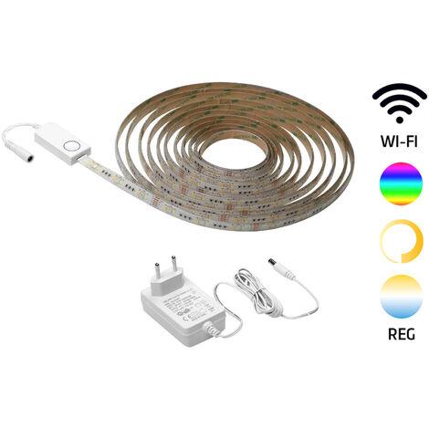Tira de Led Smart de 5 metros 24W/m. regulable en color RGB e intensidad 240V IP65 (GSC 204035001)