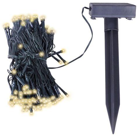 Tira de luces LED de Navidad energía solar blanco cálido