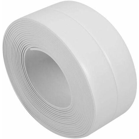 Tira de sellado LITZEE, cinta autoadhesiva para calafatear, fregadero, embellecedor de lavabo, PVC para cocina, baño, blanco, 38mm * 3,2 M