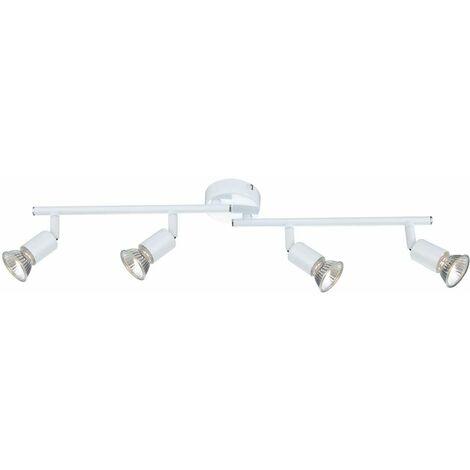 Tira de techo de techo lámpara de salón blanca mesa de comedor luminaria proyector móvil Globo OLANA 57381-4