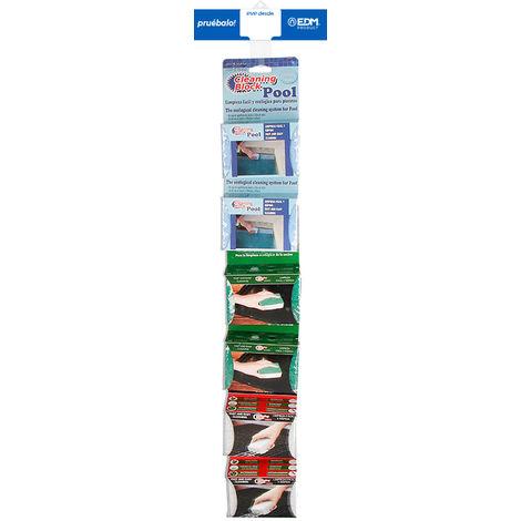 Tira de venta cruzada cleaning block incluye 77400 6 unid, 77401 6 unid, 77403 6 unid