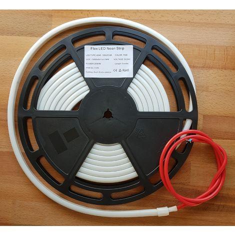 Tira Flex LED Neón de Silicona IP68 14W/M Blanco Precio por metro (10 metros máximo por rollo)