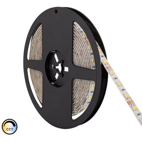 Tira LED 12V DC 60LED/m 5m CCT Seleccionable IP65 Seleccionable (Cálido-Neutro-Frío) - Seleccionable (Cálido-Neutro-Frío)