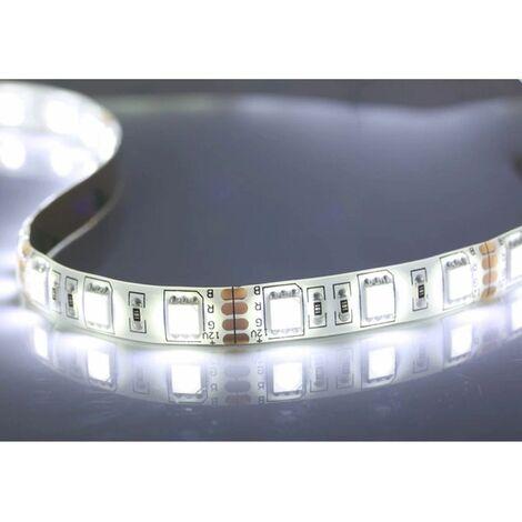 Tira LED 12V DC SMD5050 60LED/metro (5 metro) 14W/Metro Blanco Brillante 6000-6500K