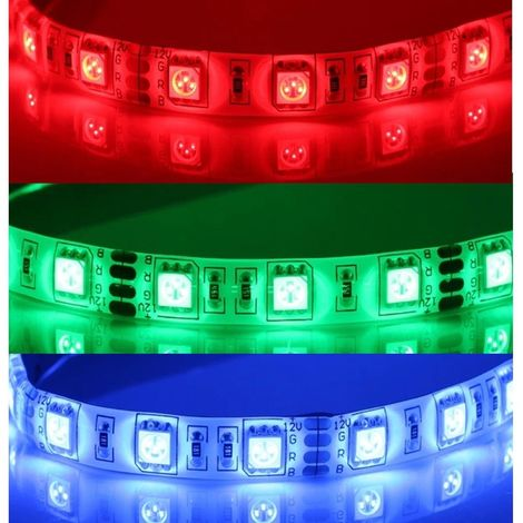 Tira LED 12V DC SMD5050 60LED/metro (5 metro) 14W/Metro Color RGB REGULABLE
