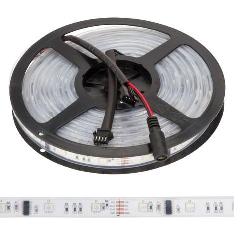 Tira LED 150 LEDs 5M 12VDC SMD5050 Digital RGB GR-LDT-W30DIGRGB-IP67 | RGB (GR-LDT-W30DIGRGB-IP67)