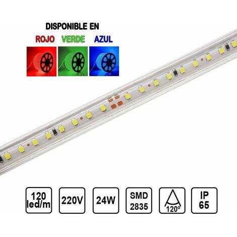 Tira LED 220V 24W 15mm 120 leds /metro SMD2835