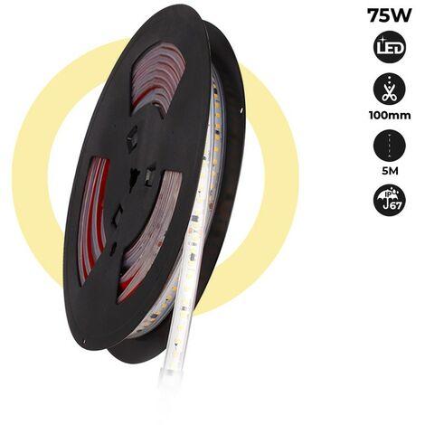 Tira LED 220V 75W (600xSMD2835) 12mm IP67 Rollo 5 metros