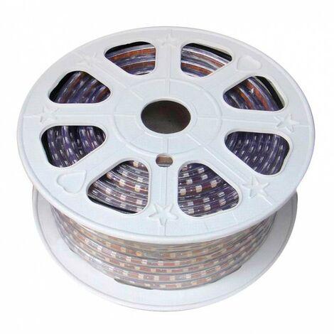 Tira LED 220V SMD 5050, 120Led/m, RGB, 2 filas, carrete 50 metros, 18.5mm, RGB - RGB