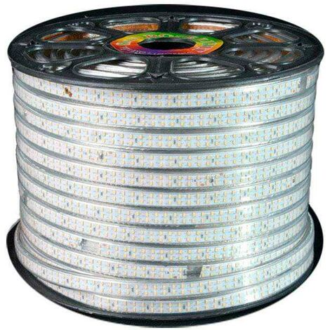 Tira LED 220V SMD2835 doble, 180Led/m, carrete 50 metros