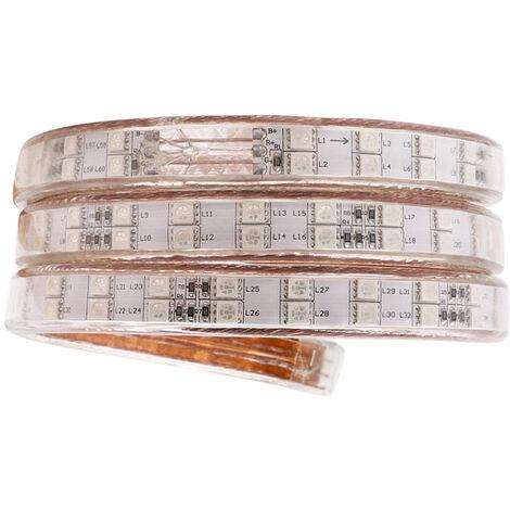 Tira LED 220V SMD5050, 120Led/m, RGB, 2 filas, 1 metro, RGB - RGB