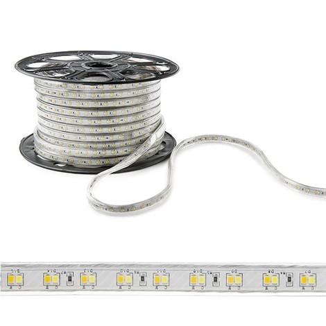Tira LED 230VAC SMD2835 120LEDs 12W/M Cálido/Frío IP65 x 1M | Cálido/Frío (WM-SMD2835-G-120-M)