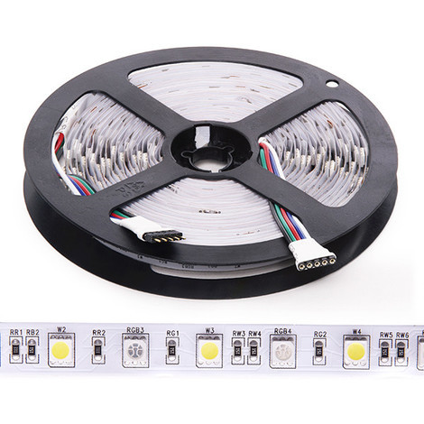 Tira LED 300 LEDs 60W SMD5050 24VDC IP20 RGB+Blanco x 5M (CA-5050-60-24-IP20-RGB-W)