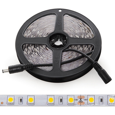 Tira LED 300 LEDs 60W SMD5050 24VDC IP25 x 5M